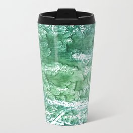 Sea green streaked watercolor pattern Travel Mug