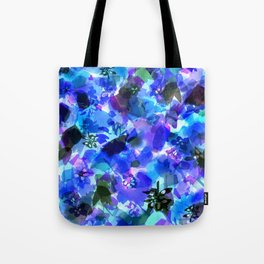 Blue Tulip Floral Tote Bag