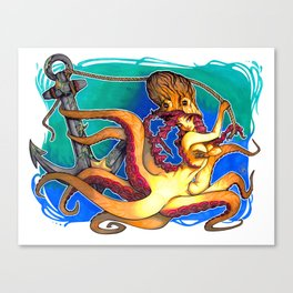 Octopus Lady Canvas Print