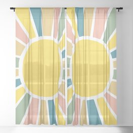 Retro Sunshine Sheer Curtain