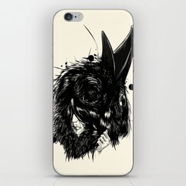 Ropaje de plumas negras / Black feather clothing iPhone Skin