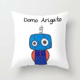 Domo Arigato Mr. Roboto Throw Pillow