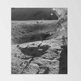 Apollo 16 - Moon Astronaut Crater Throw Blanket