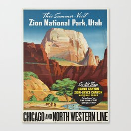 Vintage poster - Zion National Park Canvas Print