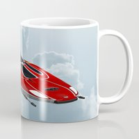 spaceship Mugs featuring Spaceship by Design Windmill