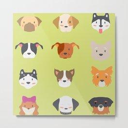 cheerful dog  Metal Print
