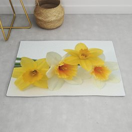 Four Beautiful Daffodils Rug