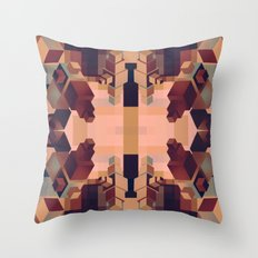 Cubed Naturally  Throw Pillow