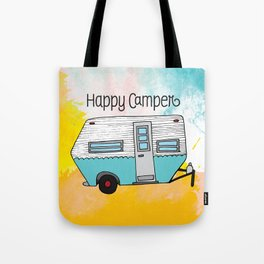Happy Camper [color] Tote Bag