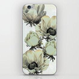 anemone flowers (white background) iPhone Skin