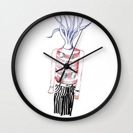Tentacles head Wall Clock