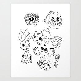 Pokemen  Art Print