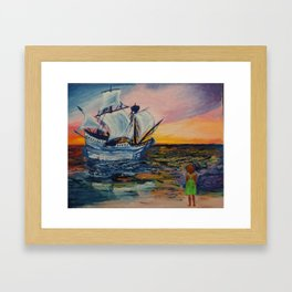 What it feels like to be found Framed Art Print