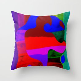 Rainbow kiss Throw Pillow