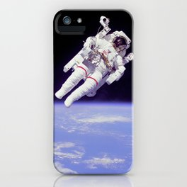 Astronaut on a Spacewalk iPhone Case