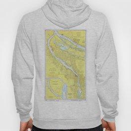 Vintage Map of Portland OR (1974) Hoody