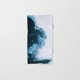 Abstract Aerial Lake in Iceland – Minimalist Landscape Photography Hand & Bath Towel