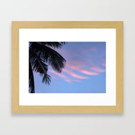Palms leaf Framed Art Print