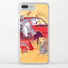 Polar bear unlucky Clear iPhone Case