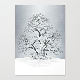 The North remembers - Winter's coming Canvas Print