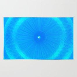 Abstract Blue Aqua water Iris Rug