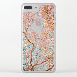 The Lungs of the Earth - Gold, Pink &Turquoise Clear iPhone Case