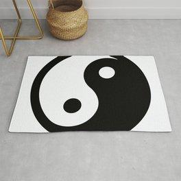 oriental ying yang Rug