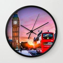 Sundown in London Wall Clock