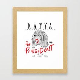 Katya Zamolodchikova For President! Framed Art Print