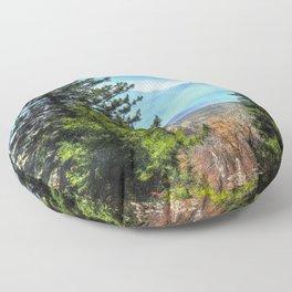 Blue Ridge Mountains North Carolina Floor Pillow