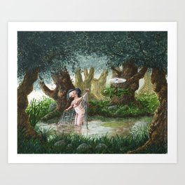 The Beautiful Fisher (Die schoene Fischerin) Art Print
