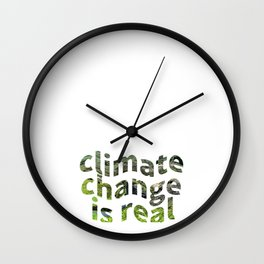 Climate Change Global Warming Is real Wall Clock