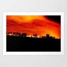 HB Blaze Art Print
