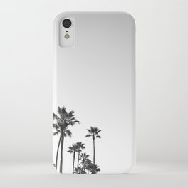 Black and White California Palms iPhone Case