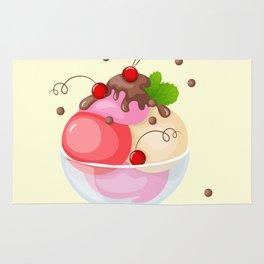berry ice cream Rug
