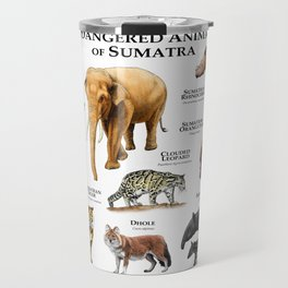 Endangered Animals of Sumatra Travel Mug