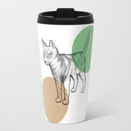 cat in the circle Travel Mug