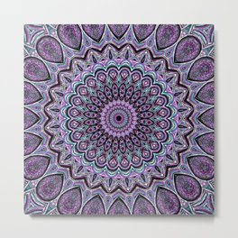 Blackberry Bliss - Mandala Art Metal Print