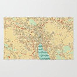 Zurich Map Retro Rug