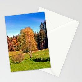 Tree in springtime scenery | landscape photography Stationery Cards