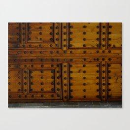 Wooden Antique Door Canvas Print
