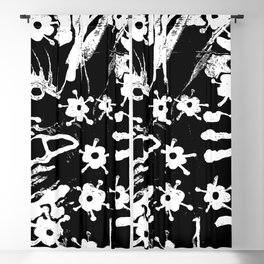 distressed flowers Blackout Curtain