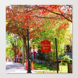 The Christmas Shoppe Canvas Print
