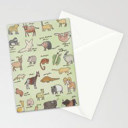 The Obscure Animal Alphabet Stationery Cards