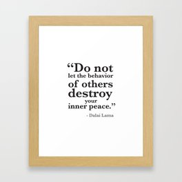 Quote 8 Framed Art Print
