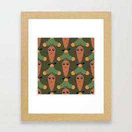 Cute carrot Framed Art Print