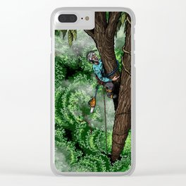 Flip Lining Clear iPhone Case