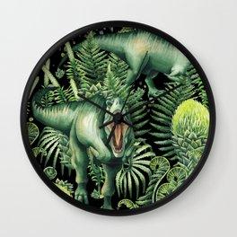 Realistic watercolor dinosaur Wall Clock