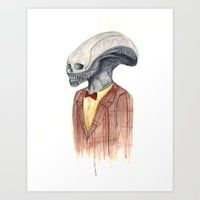 xenomorph Art Prints featuring Xenomorph by Monsters in Plaid