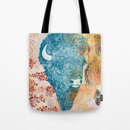 Blue Bison Tote Bag